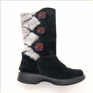 Dansko Fyodora Suede & Faux Fur Boots Nordic 38